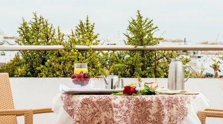 Petit-déjeuner avec vue hotel ele spa medina sidonia medina-sidonia