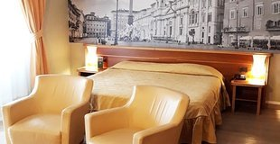 Chambres deluxe ele green park hotel pamphili rome, italie