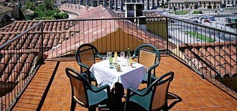 Terrasse sur le toit hôtel ele acueducto ségovie