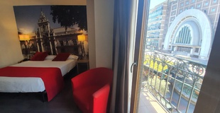 Chambre double avec vue ele enara boutique hôtel valladolid