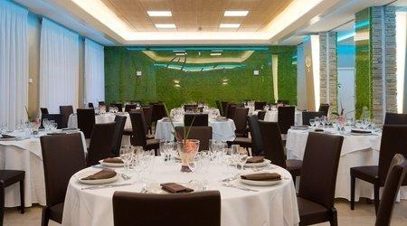 Salle d'événements interne ele green park hotel pamphili rome, italie