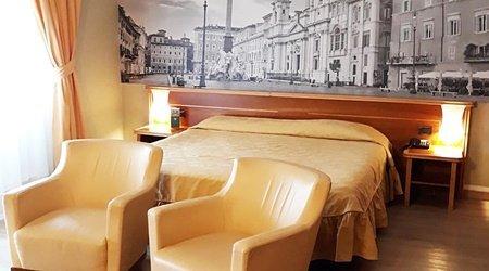 Chambre deluxe double ele green park hotel pamphili rome, italie