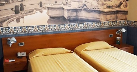 Chambres standard ele green park hotel pamphili rome, italie