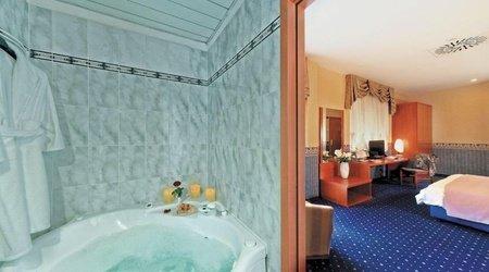 Chambre double supérieure ele green park hotel pamphili rome, italie