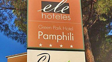 Restaurant ele green park hotel pamphili rome, italie